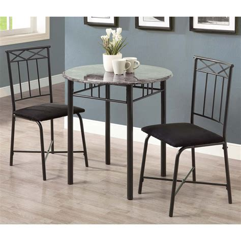 Gray Dining Table Set Shop Monarch Specialties Grey Dining Set With Table At Lowes