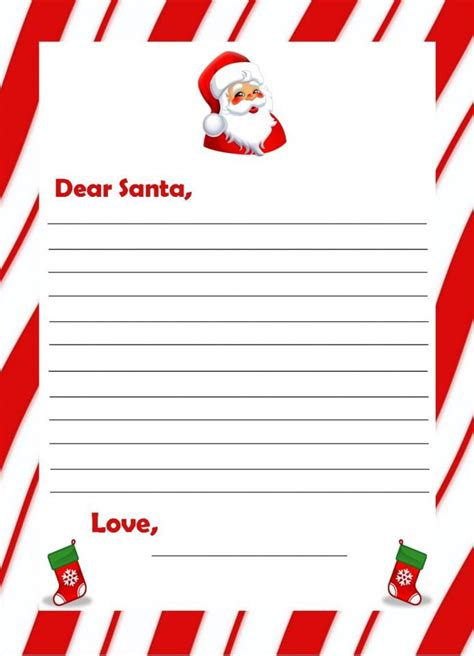 santa letter free template free printable letter from santa templates new calendar