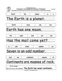 unscramble the sentences worksheets enchantedlearning com