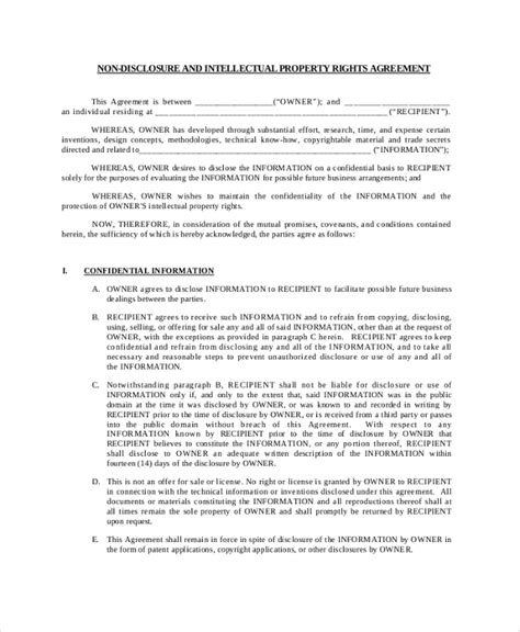 28 international non disclosure agreement template