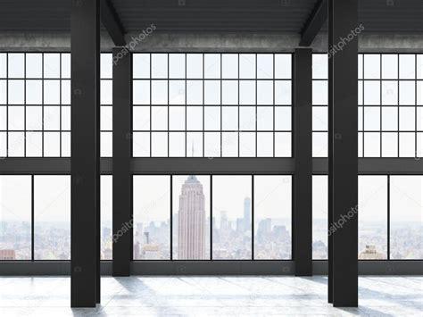 loft fenster new york blick durch loft fenster stockfoto 128581410