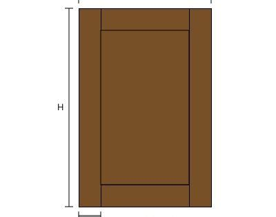 Cabinet DoorCalculator Layout diagram   tool to calculate