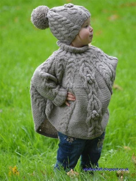 Knitting Pattern Temptation Poncho And Hat Set By