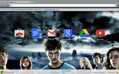 theme chrome harry potter 10 magical harry potter chrome themes for true fans