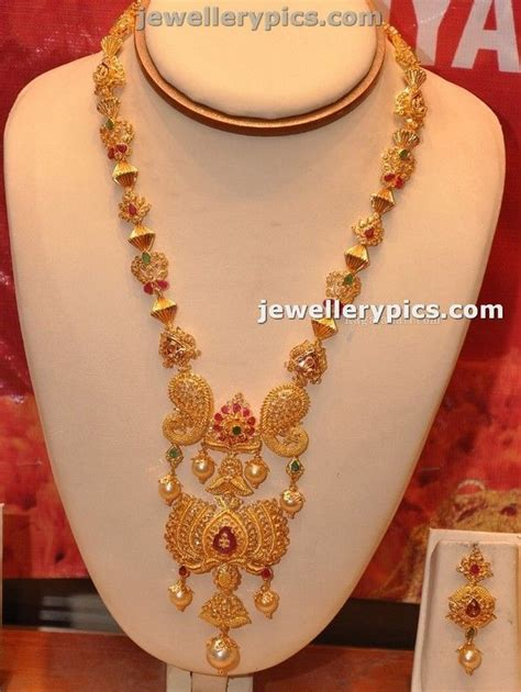 temple jewellery haaram pictures to pin on pinterest