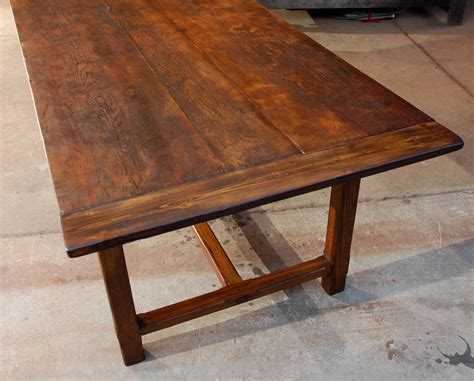 large oak  pine dining table  stdibs