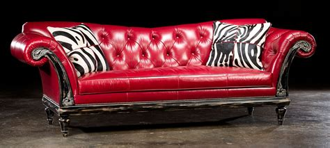 1 Red Hot Leather Sofa Usa Made Lost Look From The Past Re Leather Sofa