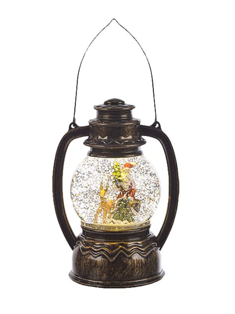 light up snow globe light up glitter water snow globe hurricane lantern led