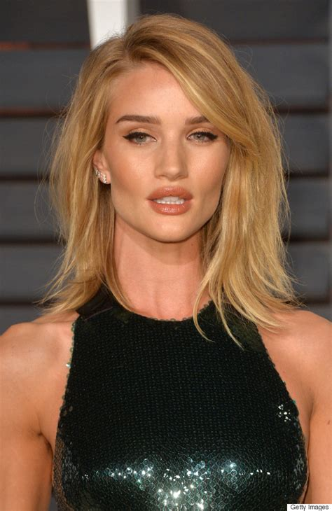 rosie huntington side parted lob rosie huntington whiteley s sexy party hair more