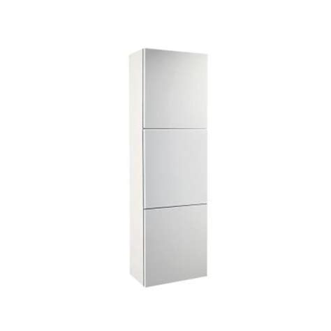 Linen Storage Cabinet With Doors Fresca 18 In W Linen Storage Cabinet With 3 Doors In White Fst8090wh The Home Depot