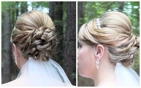 Do It Yourself Wedding Hairstyles For Shoulder Length Hair by Bridal Updo On Shoulder Length Hair
