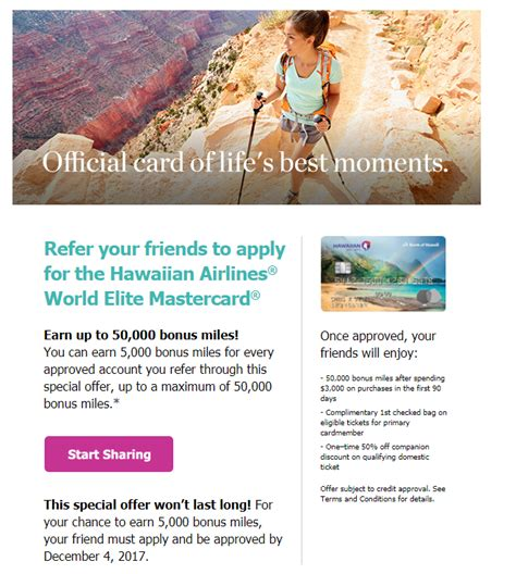 Hawaiian Airlines Business Card
