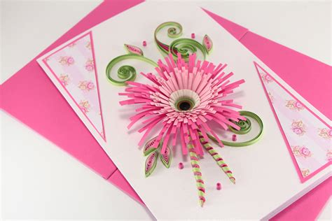 Handmade Greeting Card Designs For Birthday - birthday card for beautiful handmade quilling