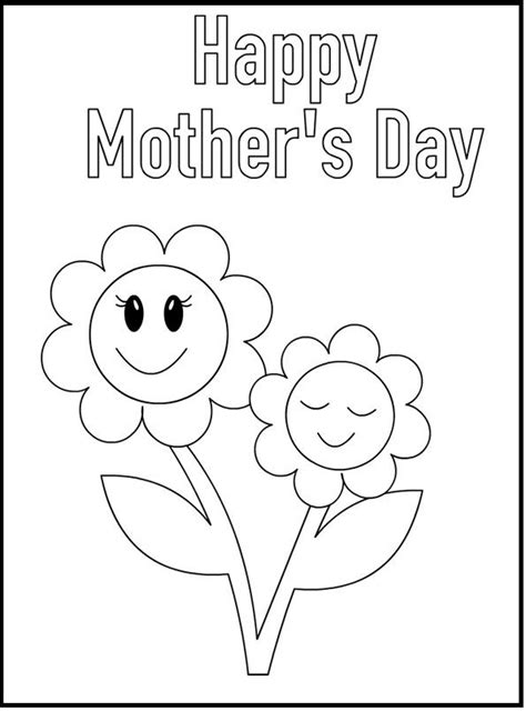 s day card template coloring 1000 images about crafts on flower