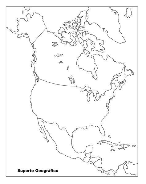 10 Mapas da América do Norte para Colorir e Imprimir