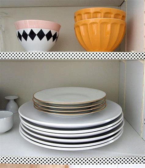 washi tape kitchen cabinets easy rental kitchen project washi tape your cabinet shelves