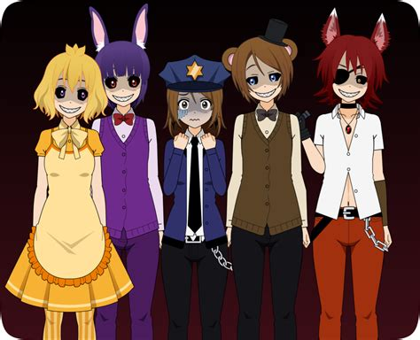 Freddys At Five Nights Anime Newhairstylesformen2014com | five night s at freddy s by shirowolf02 on deviantart