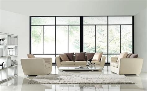 modern living room furniture sets robinson 3 pieced leather sofa set modern living room