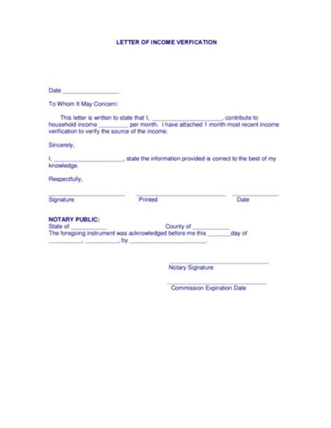 income verification letter sle income verification letter free documents pdf