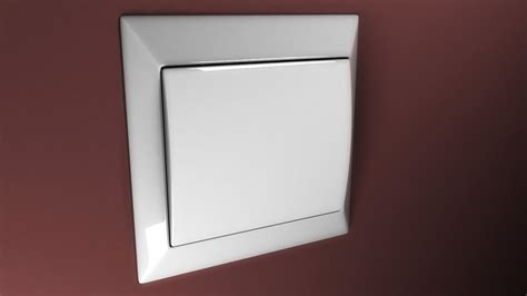 simple light switch 3d model