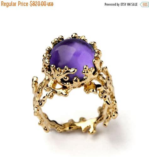 black friday sale coral 14k gold amethyst ring purple