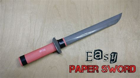 How To Make Weapons Out Of Paper - how to make a simple paper sword sword