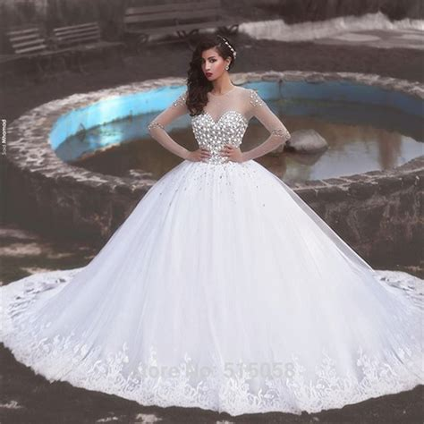 wedding dress 2016 beaded organza princess