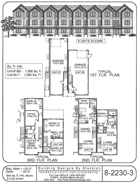 8 unit apartment floor plans 8 unit garage bottom floor apartment house plan ideas