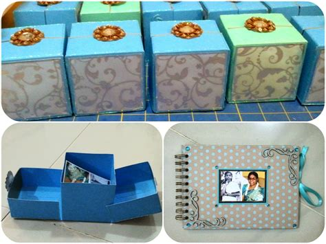 Handmade Slam Book - anuja s craft collage origami gift box and slam book