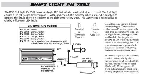 7752 shift light with cap msd