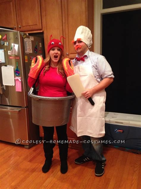 diy chef costume easy costume for couples swedish chef and