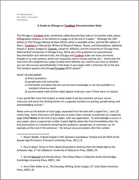Chicago Style Writing Template by Chicago Documentation Style