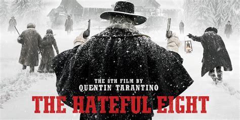 ultimo film di quentin tarantino 2015 the hateful eight pistoleri di spalle nel poster finale