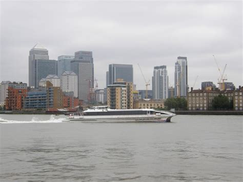 thames clipper to canary wharf canary wharf and a thames clippers catamaran a picture