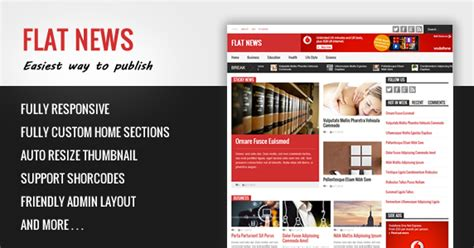 themeforest download old version free download flat news themeforest blogger template