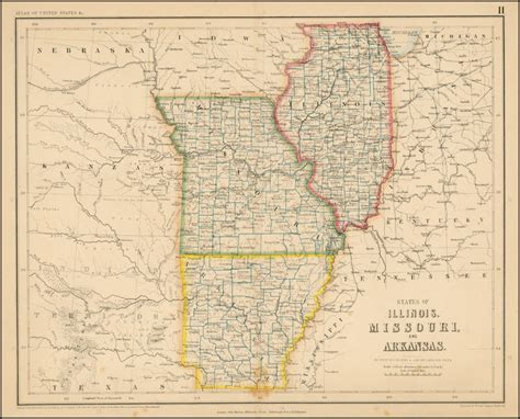 map mo and il states of illinois missouri and arkansas barry
