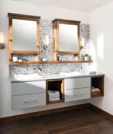 Cabinet Between Bathroom Sinks » Home Design
