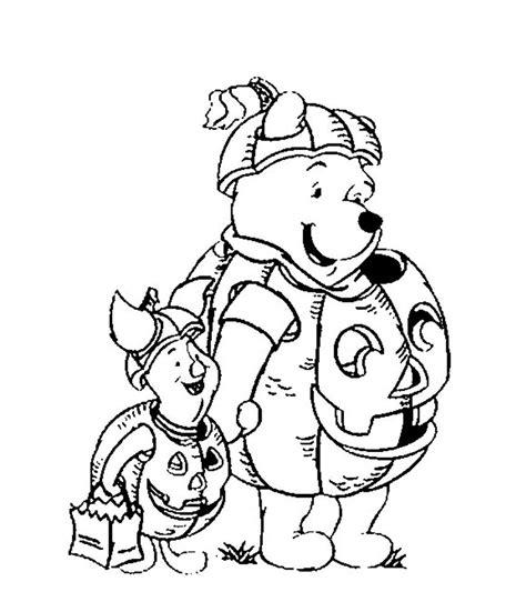 disney pumpkin coloring pages print pooh and piglet pumpkin costume disney halloween
