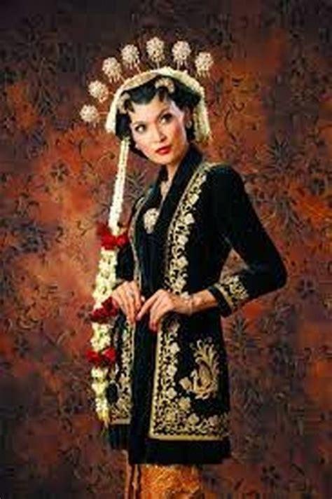 Pakaian Baju Wanita Kebaya Encim Bunga Matahari Merah Lengan 3 4 kebaya busana klasik sepanjang masa ide model busana