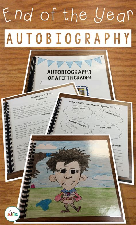 biography exles for books autobiography of a fifth grader a memory book project