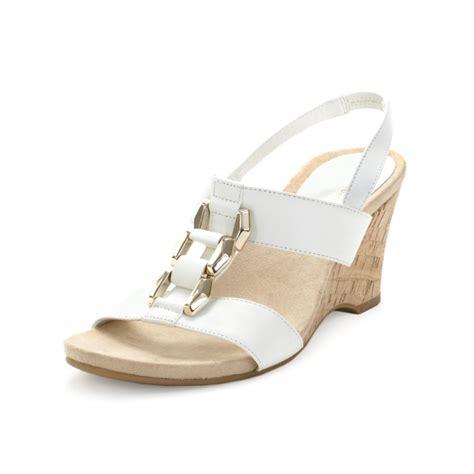 klein custom wedge sandals in white lyst