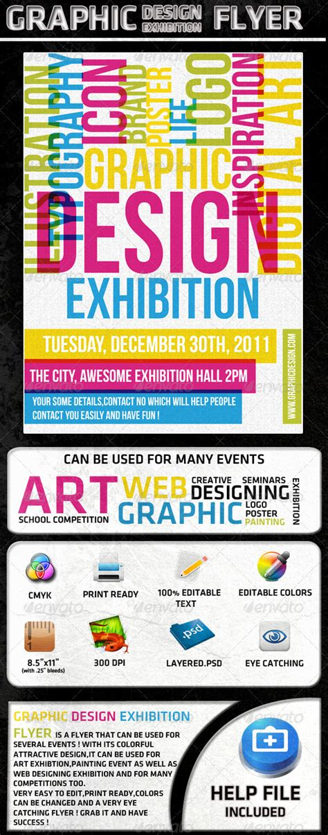graphic design templates for flyers graphic design exhibition flyer poster miscellaneous events