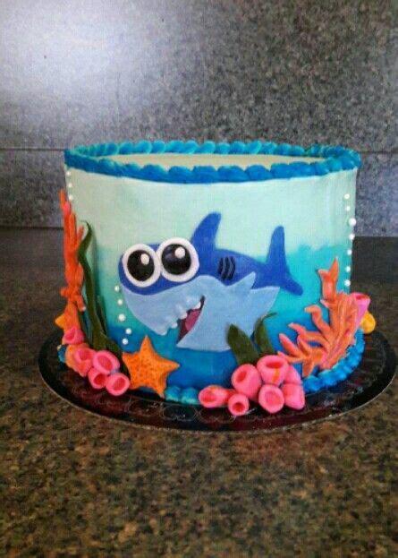 baby shark decorations baby shark birthday cake 05 28 2017 sweet tooth cakery