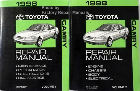 1998 toyota camry factory service manual 2 volume set original shop repair factory repair manuals