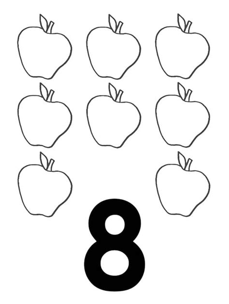 Number 8 Coloring Page by Number 8 Coloring Page T8ls