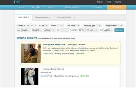 Plenty Of Fish Search By Email Pof Review Features List Usability Overview Pof