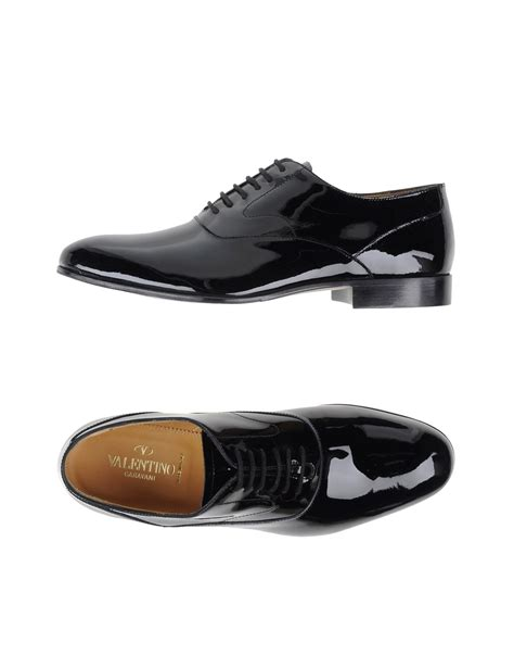 studded oxford shoes valentino studded laceup oxford shoes in black for lyst