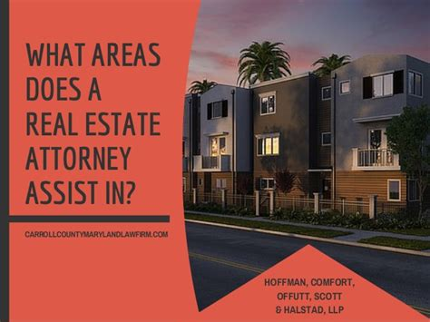what areas does a real estate attorney assist in
