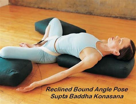 Reclining Lotus Position by A Way To Health Supta Baddha Konasana Reclining