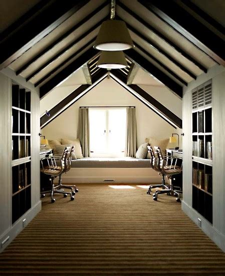 attic room 37 cool attic home office design inspirations digsdigs
